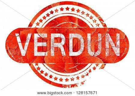 verdun, vintage old stamp with rough lines and edges