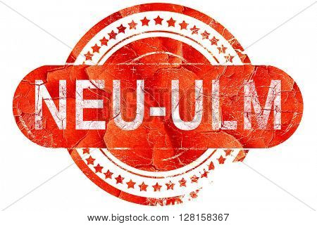 Neu-ulm, vintage old stamp with rough lines and edges