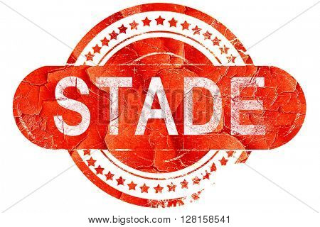 Stade, vintage old stamp with rough lines and edges
