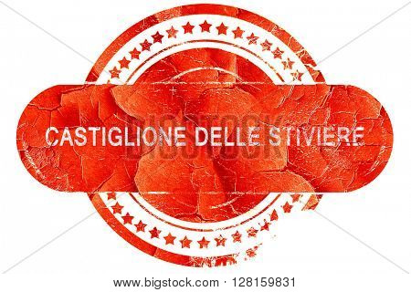 Catiglione delle stiviere, vintage old stamp with rough lines an