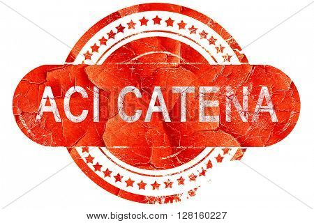 Aci Catena, vintage old stamp with rough lines and edges