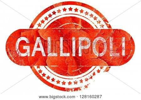 Gallipoli, vintage old stamp with rough lines and edges