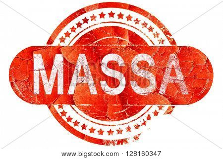 Massa, vintage old stamp with rough lines and edges
