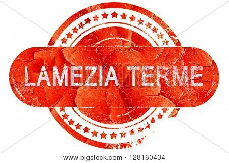 Lamezia terme, vintage old stamp with rough lines and edges