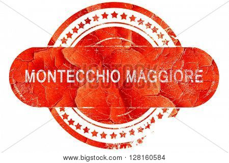 Montecchio maggiore, vintage old stamp with rough lines and edge