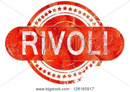 Rivoli, vintage old stamp with rough lines and edges
