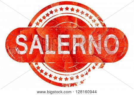 Salerno, vintage old stamp with rough lines and edges