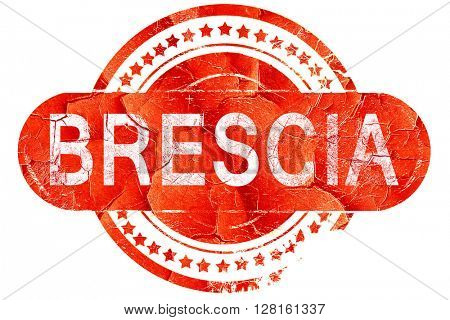Brescia, vintage old stamp with rough lines and edges