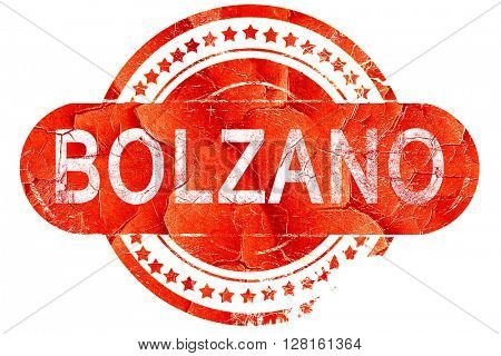 Bolzano, vintage old stamp with rough lines and edges