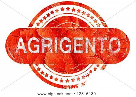 Agrigento, vintage old stamp with rough lines and edges