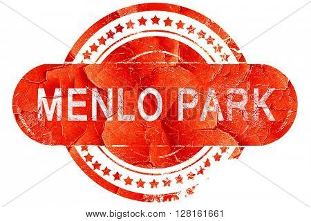 menlo park, vintage old stamp with rough lines and edges