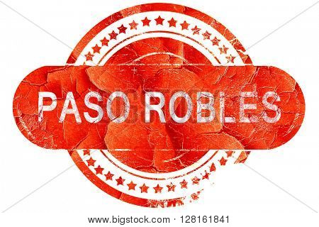 paso robles, vintage old stamp with rough lines and edges