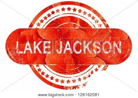 lake jackson, vintage old stamp with rough lines and edges
