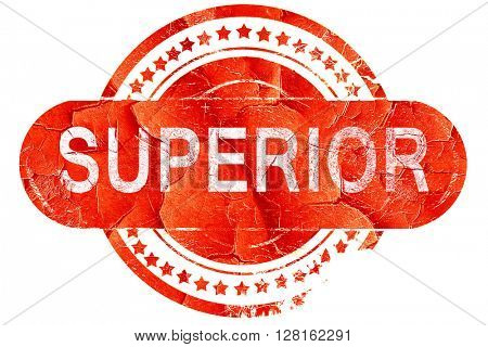 superior, vintage old stamp with rough lines and edges
