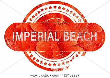 imperial beach, vintage old stamp with rough lines and edges