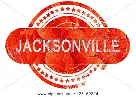 jacksonville, vintage old stamp with rough lines and edges