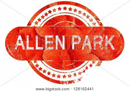 allen park, vintage old stamp with rough lines and edges