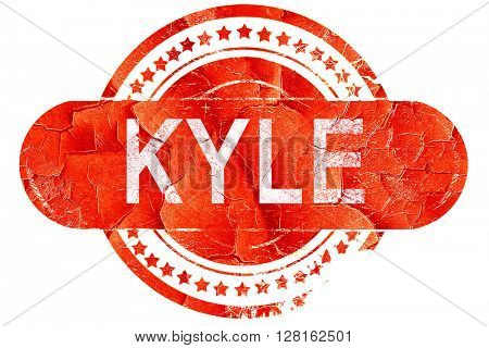 kyle, vintage old stamp with rough lines and edges