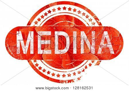 medina, vintage old stamp with rough lines and edges
