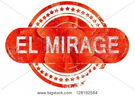 el mirage, vintage old stamp with rough lines and edges