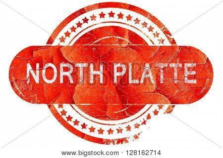 north platte, vintage old stamp with rough lines and edges