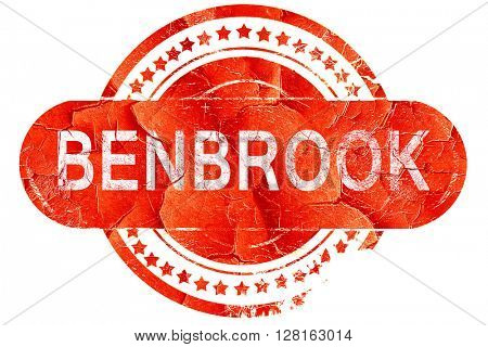 benbrook, vintage old stamp with rough lines and edges