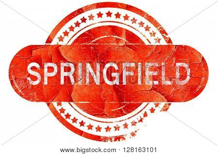 springfield, vintage old stamp with rough lines and edges