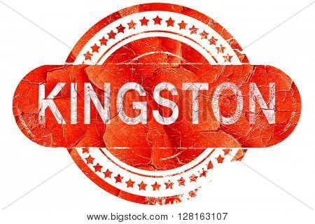 kingston, vintage old stamp with rough lines and edges