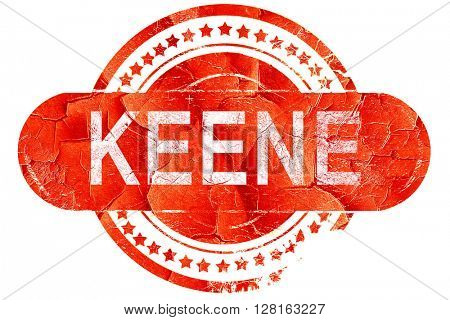 keene, vintage old stamp with rough lines and edges