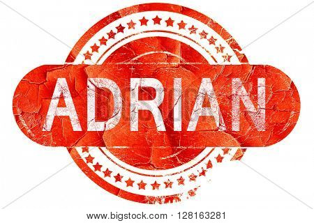 adrian, vintage old stamp with rough lines and edges