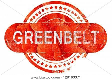 greenbelt, vintage old stamp with rough lines and edges