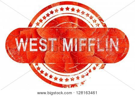 west mifflin, vintage old stamp with rough lines and edges
