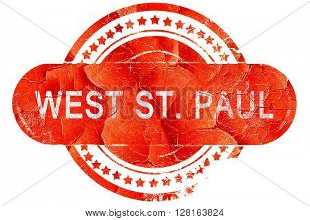west st. paul, vintage old stamp with rough lines and edges