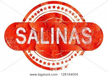 salinas, vintage old stamp with rough lines and edges