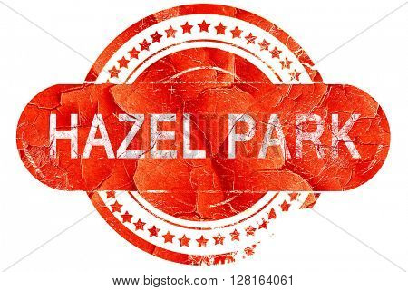 hazel park, vintage old stamp with rough lines and edges