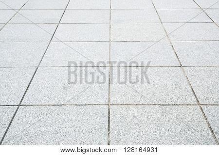 Perspective of concrete brick pavement road