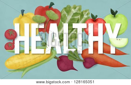 Healthy Lifestyle Active Diet Exercise Nutrition Concept
