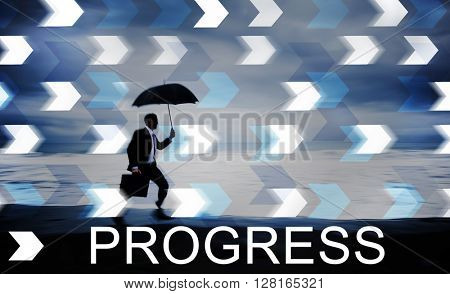 Progress Development Growth Advancement Concept