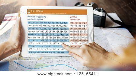 Public Transport Transportation Bus Schedule Concept