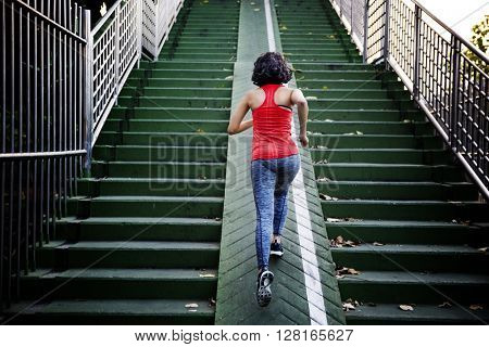 Girl Athlete Exercise Running jogging Lady Concept