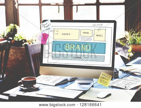 Brand Trademark Marketing Website Plan UI Concept