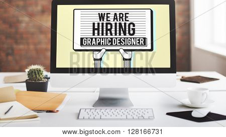 Hiring Graphic Designer Creative Sketch Visual Concept