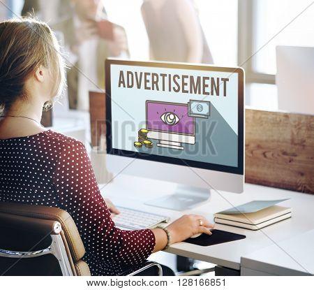 Advertisement Digital Marketing E-commerce Multimedia Concept