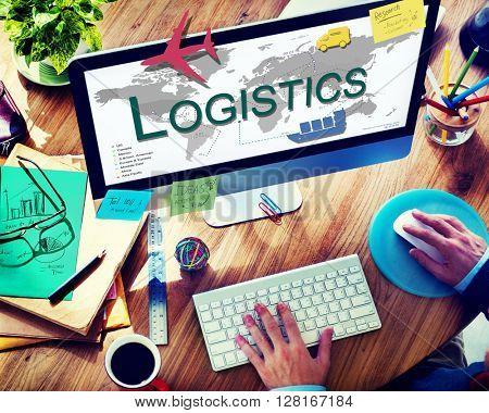 Logistics Freight Management Storage Supply Concept