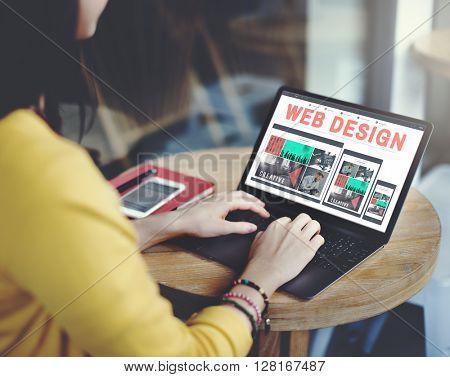 Web Design Technology Browsing Programming Concept