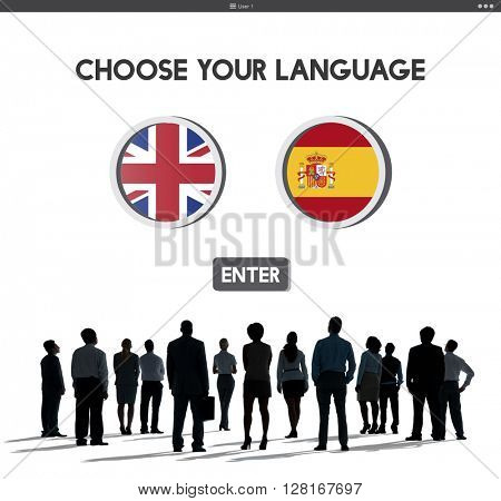 Language Dictionary English Spanish Concept