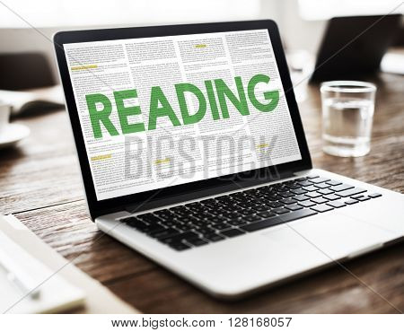 REading Newspaper Book Education Media Concept