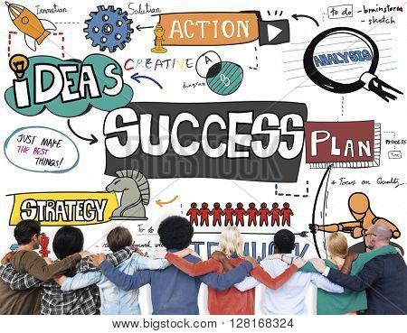 Success Improvement Achievement Goal Aim Concept