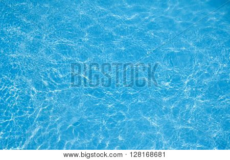 Background of rippled pattern with bright blue swimming pool water