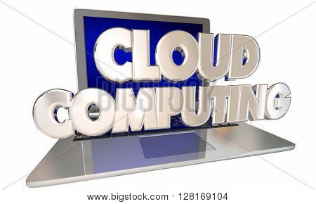 Cloud Computing Laptop Online File Storage App Programs Internet